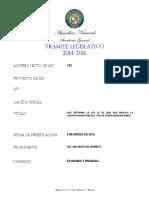 Anteproyecto de Ley 193 del 09 de marzo 2015.