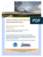 2017 Clinton County NWS Storm Spotter Flyer