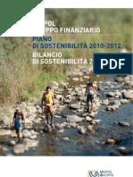 UGF Bilancio Piano Sostenibile 2009