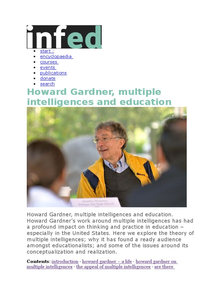 howard gardner education
