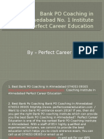 Bank PO Coaching in Ahmedabad No. 1 Institute Perfect Career Education