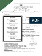 PORT 5 - Ficha Poesia Barca Bela