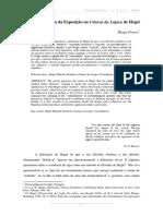 Método e Forma Da Exposição Na Ciência Da Lógica de Hegel