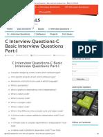 C Interview Questions-C Basic Interview Questions Part-I - BALUTUTORIALS