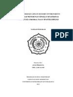 Efek Snoezelen (Multi Sensory Environment) Terhadap Penurunan Tingkat Spastisitas Pada Anak Cerebral Palsy Spastik Diplegi (Studi Kasus)
