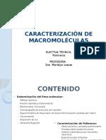 Caracterizacion de Macromoleculas