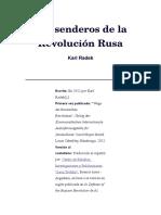Los Senderos de La Revolución Rusa - Karl Radek