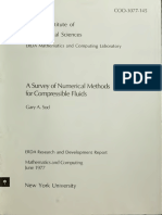 A Survey of Methods for Compressible Fluids Sod 1977