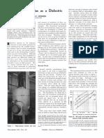 Higl -Pressure Gas as a Dielectric