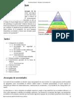 Pirámide de Maslow - Wikipedia