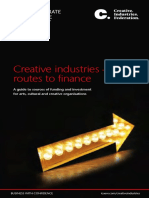 Creative Industries Routes to Finance