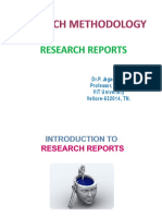 MRES 701 Research Reports PPT 1