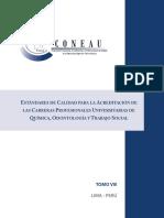 Tomo VIII Estandares de Calidad Para La Acreditacion de Las Carreras Profesionales Universitarias de Quimica Odontologia y Trabajo Social (1)