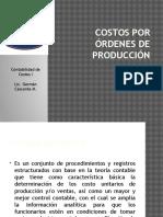 Costos Por Órdenes de Producción Por El Sistema