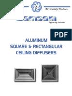 Zamzam - Ceiling Square & Rectangular Diffusers ##