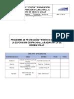 Programa de Protección y Prevención UV CERRO NEVADO Rev.1