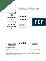 Disolucion Del Sulfuro de Mercurio II Por Formación Decomplejos