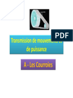 Cours Courroies