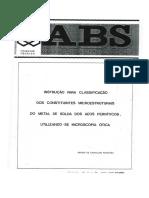 Instrução Par Clasificação Dos Constituintes Microestruturais, Do Metal de Solda Dos Aços Ferríticos...