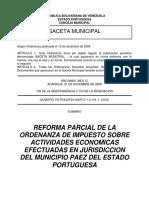 Reforma Parcial de La Ordenanza de Impuesto Sobre Actividades Economicas Definitiva