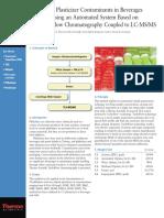 TG 52251 Analysis Plasticizer Contaminants Beverages Milk TG52251 E