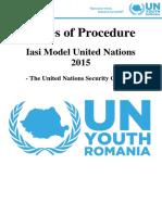 Iasi Mini MUN 2015 Rules of Procedure - Security Council