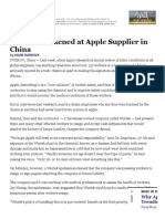 Apple Worker Treatment Case Study