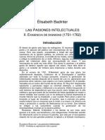Badinter - Las Pasiones Intelectuales II Selec