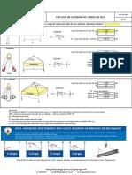 Planilha para Cálculo de Eslingas de cabos de aço