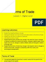 terms of trade - lesson 1