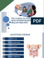Factores Nutricionales Que Intervienen en La Malnutrición