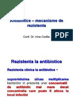 Antibiotice ÔÇô Rezistenta 2016