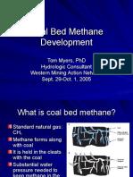 Coal Bed Methane Development (Tom Myers)