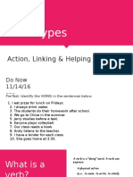 verb types   subject   predicate stand-alone