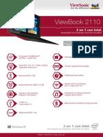 Viewsonic Tablet ViewBook 2110 Ficha Técnica