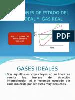 Ecuaciones de Estado Del Gas Ideal y Gas