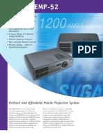 Epson EMP 52 Brochures 2