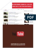 Informe sobre el uso de YouTube en el sector editorial