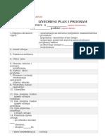 Izvedbeni Plan i Program Terenske Nastave Za Skole