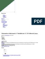 Matematicas Solucionario 1º Bachillerato CC NN Editorial Anaya