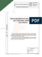 034 Procedimiento Gestion Certificados Calidad