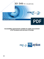 ETSI en 301 549 Accessibility Requirements Suitable for Public Procurement of ICT Products and Services in Europe - 2015