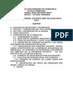 Agenda II Consejo Docente