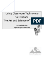 Handout- Using Classroom Technology to Enhance the Art and Science of Teaching