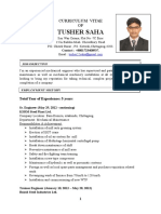 CURRICULUM VITAE Tusher With Picture 24.1.2017
