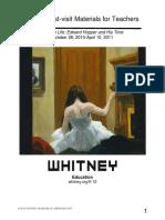 Edward Hopper Teacher Guide