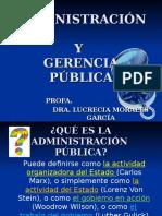 Administración y Gerencia Pública. Conceptos y Principios