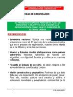 23-01-17 LÍNEAS PRONUNCIAMIENTO- POLÍTICA EXTERIOR