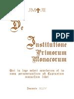 Livro Da Instituicao Dos Primeiros Monges