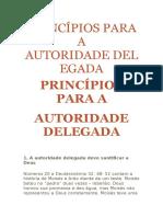 Princípios Para a Autoridade